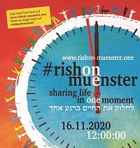 "Plakat ""Sharing life in one moment"""