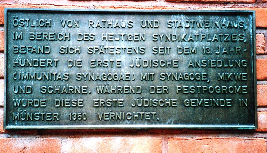 Gedenktafel Judenpogrom 1350