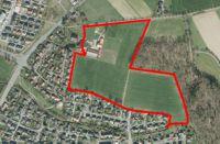 Luftbild mit dem Umring des Plangebietes