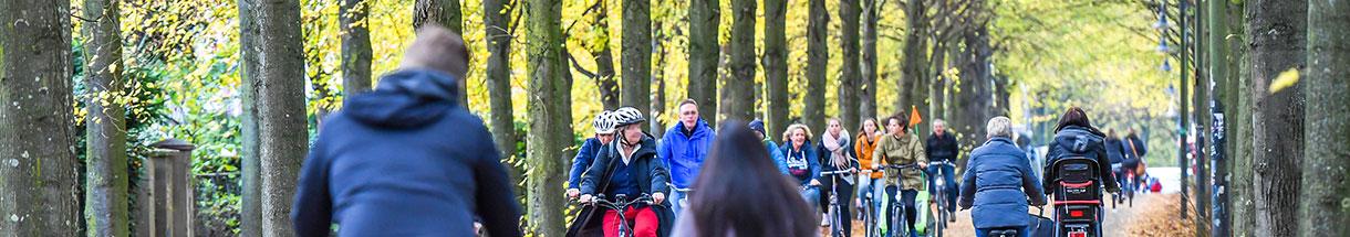 Radfahrer auf der Promenade